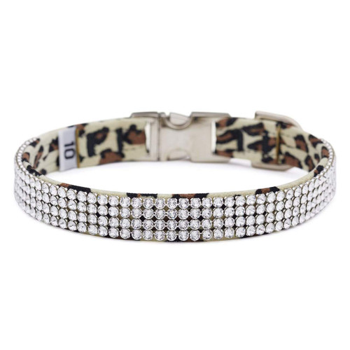 Four Row Cheetah Gilmore Perfect Fit Collar