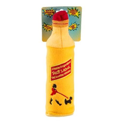 Johnnie Dogwalker Water Bottle Crackler Plush Toy