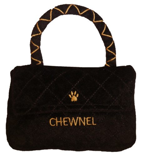 Chewnel Classique Black Purse Plush Toy