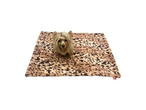 Medium Blanket, Crushed Brown Leopard