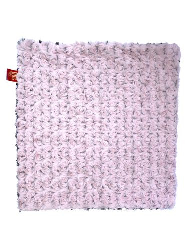 Blanket, Pink/Grey Two Tone Rosebud Small