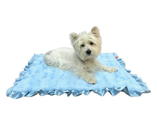 Furbaby Ruffled Travel Blanket (29x29) Bella Blue
