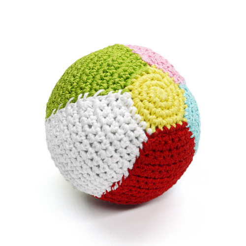 PAWer Squeaky Beach Ball Crochet Toy