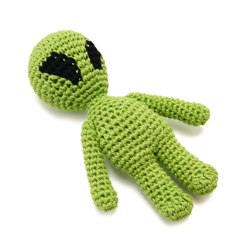 PAWer Squeaky Alien Crochet Toy