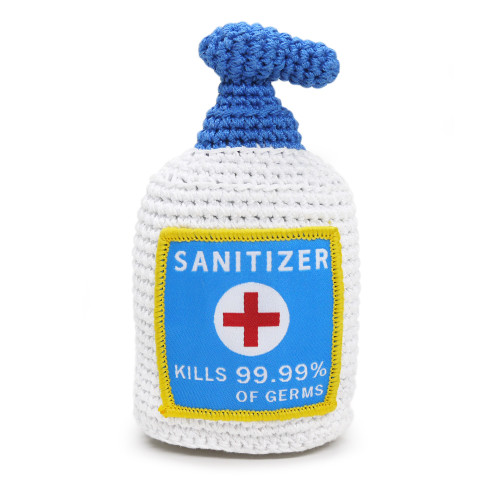PAWer Squeaky Sanitizer Crochet Toy