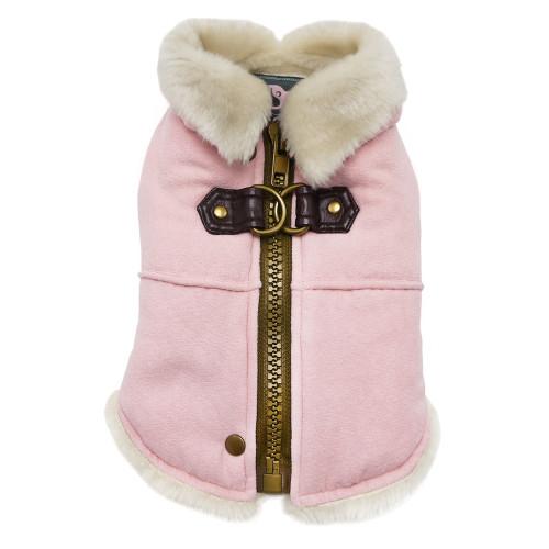 Furry Runner Coat Pink