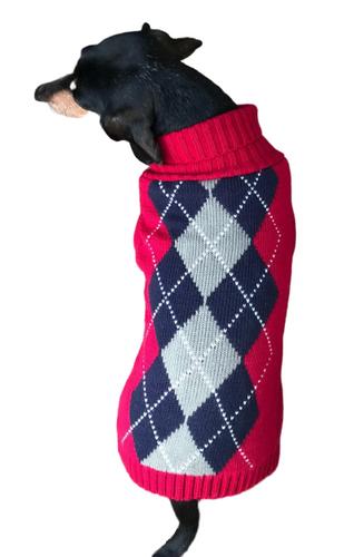 Red Argyle Sweater
