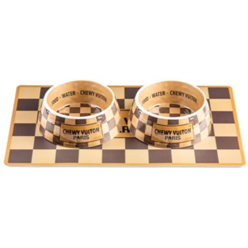 Checker Chewy Vuiton Bowl (Case of 2)