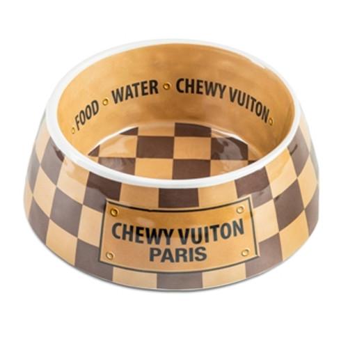 Checker Chewy Vuiton Bowls & Mat Bundle