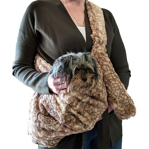 Adjustable Furbaby Sling bag, Fawn