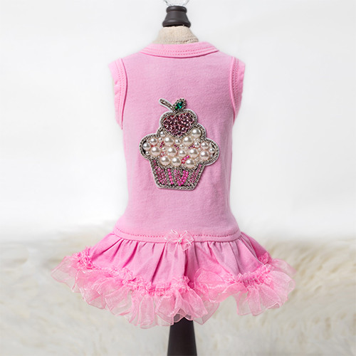 Lil Miss Cupcake Dog Dress: Pink