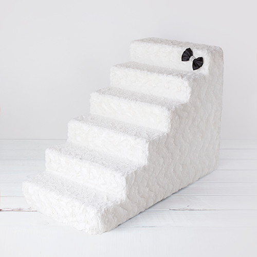 Luxury Pet Stairs 6 Step: Classic Ivory