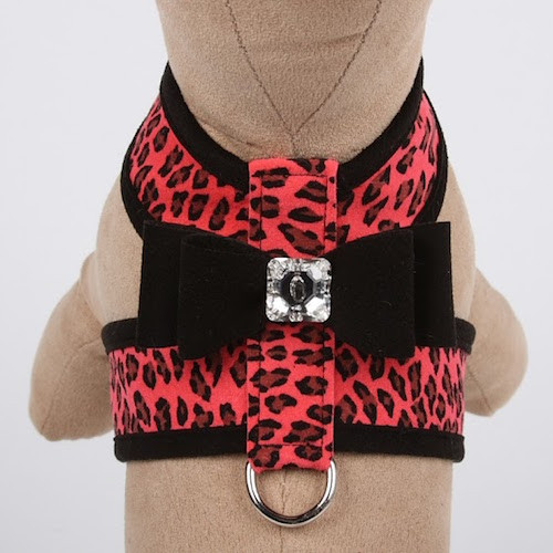 Two Tone w/Black and Big Bow Tinkie Harness Mango Cheetah Couture