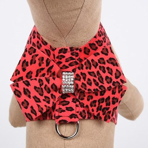 Nouveau Bow Tinkie Harness Mango Cheetah Couture