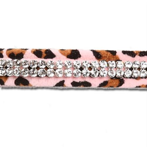 Pink Cheetah Couture 2 Row Giltmore Collar