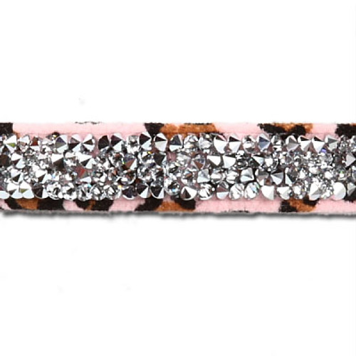 Copy of Pink Cheetah Couture 2 Row Giltmore Collar