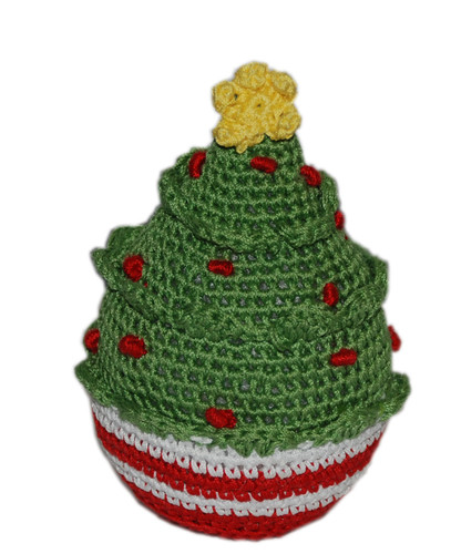 Knit Knacks Christmas Tree Organic Cotton Small Dog Toy