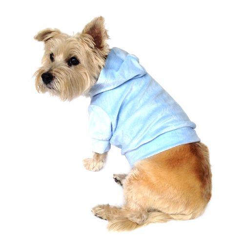 Light Blue Velour Hoodie Pullover