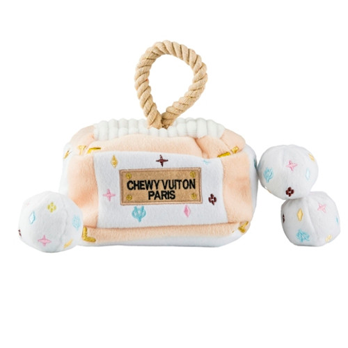 White Chewy Vuiton Interactive Trunk