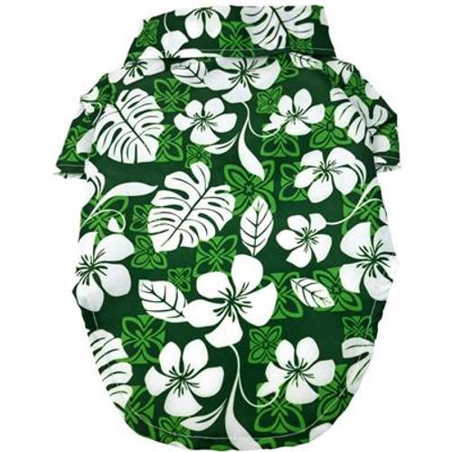 Hawaiian Camp Shirt - Tropical Green