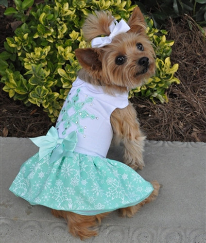 Turquoise Crystal Dress w/ Leash & D-Ring