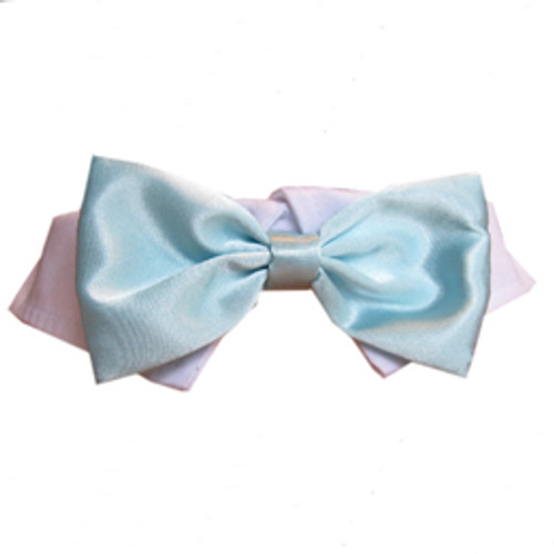Pooch Outfitters Aqua Satin Bow Tie