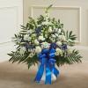 Blue & White Sympathy Floor Basket