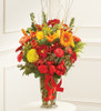 Large Sympathy Vase Arrangement In Fall Colors