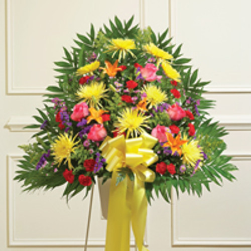 Multicolor Bright Sympathy Standing Half Spray