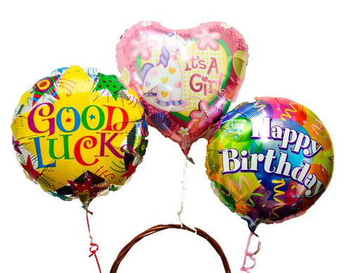 1 mylar balloon in your occasion