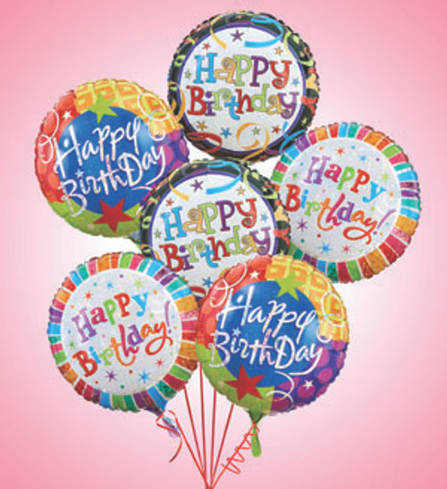 Air - Rangement Happy Birthday Balloons