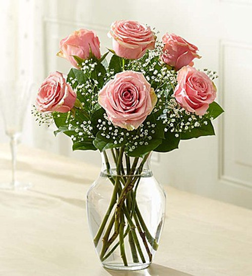 6 Stems Pink Love's Embrace Roses