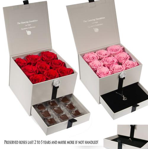 The Dancing Dandelion Preserved Rose Gift Box