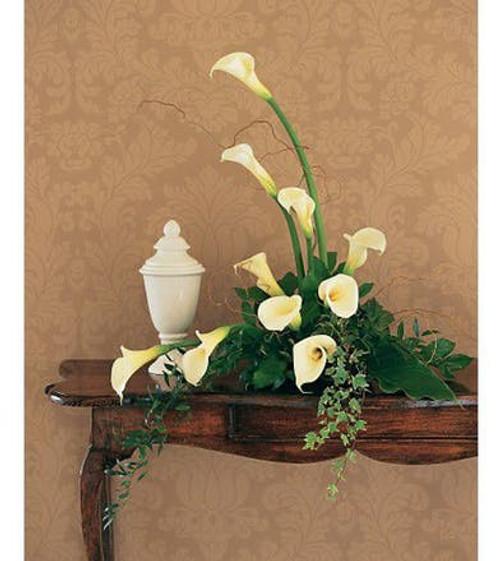Calla Lily Cremation Wreath