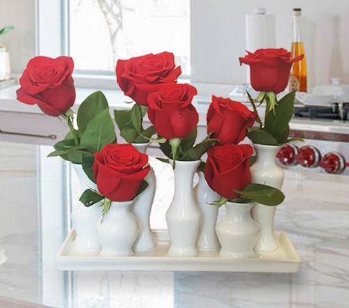 Chic Vased Roses