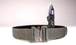 Hidden knife in our tactical belt