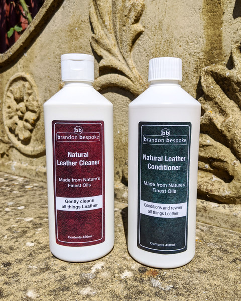 Leather Care Twin Pack - Natural Cleaner & Conditioner