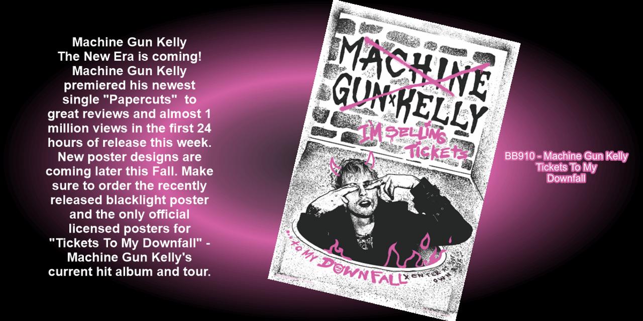"Machine Gun Kelly premiered his newest single ""Papercuts""."