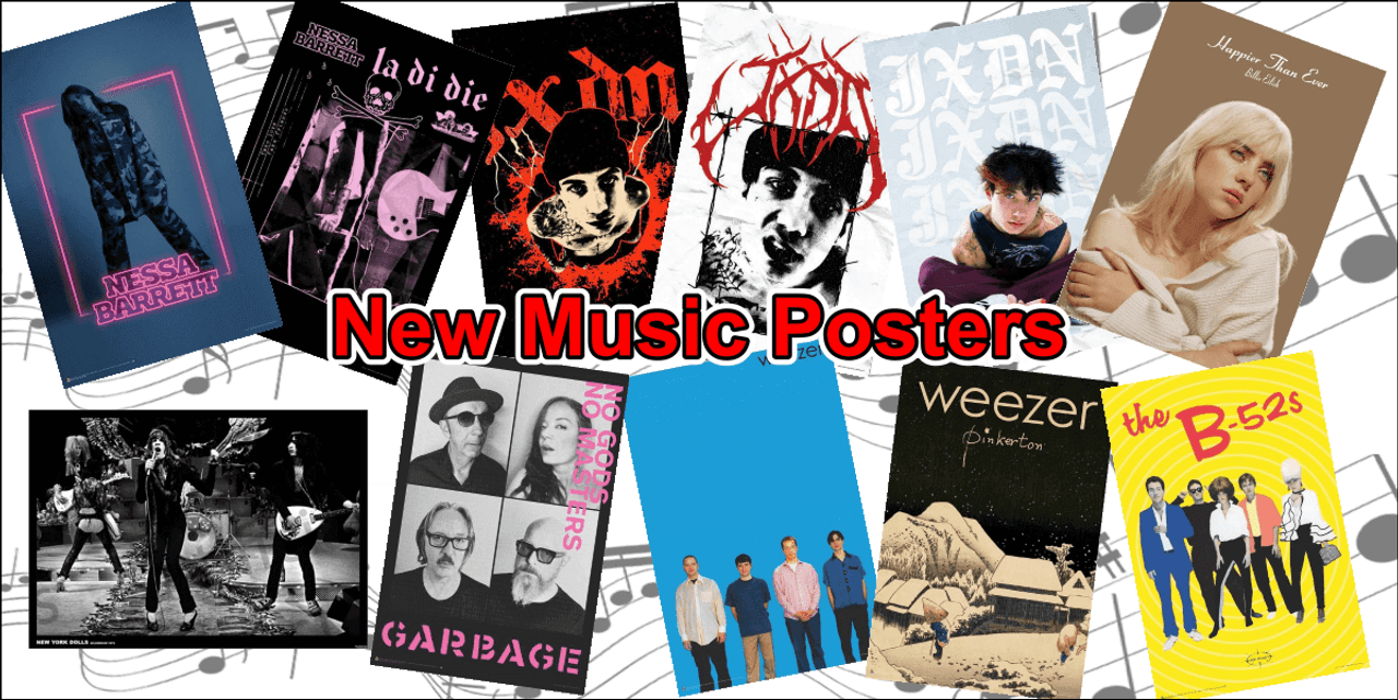 New Music Posters Banner