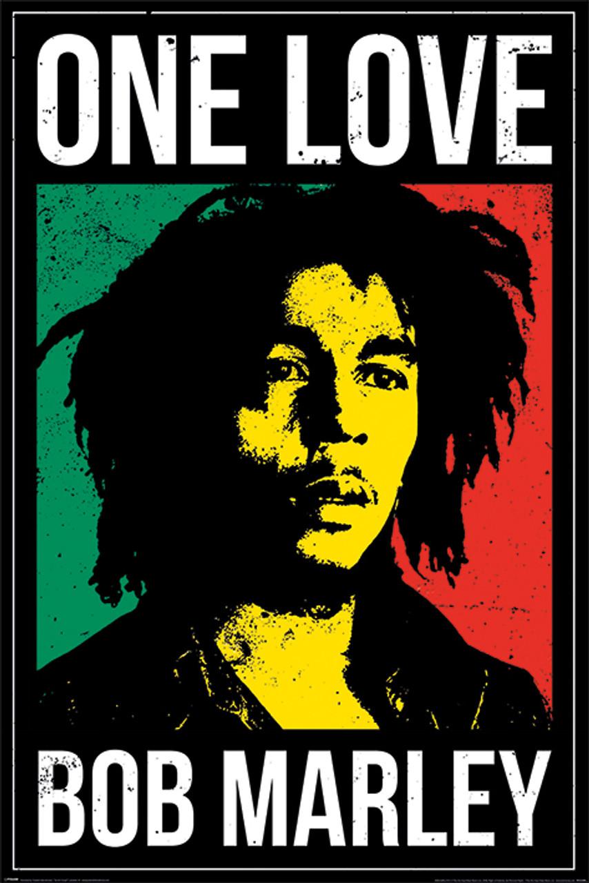 "bob marley portrait poster 24/"" x 36/"""