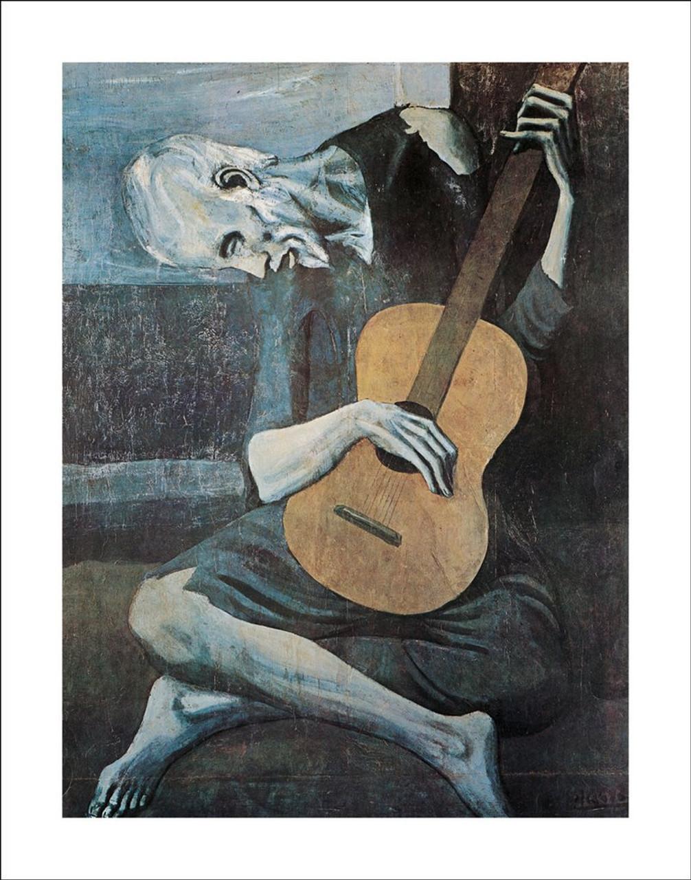 Pablo Picasso Old Guitarist Decorative Fine Art Poster Print 22 by 28