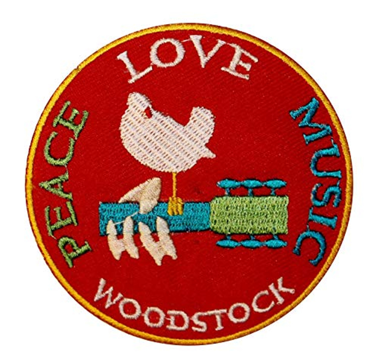 """4/"""" X 2/"""" Drugs /& Rock N Roll Embroidered Sew On Patch Sex"""