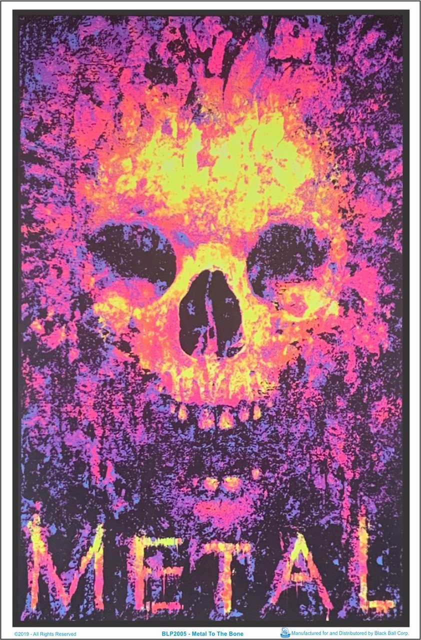 STONED TO THE BONE BLACKLIGHT POSTER 24X36  1977