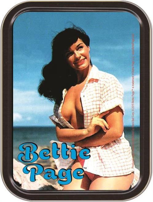 Bettie Page Beach Stash Tin Storage Container Image