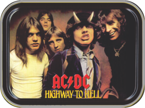 AC/DC Highway to Hell Stash Tin Storage Container Image