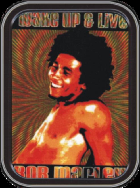 Bob Marley - Wake Up & Live Tin Stash Tin Storage Container Image