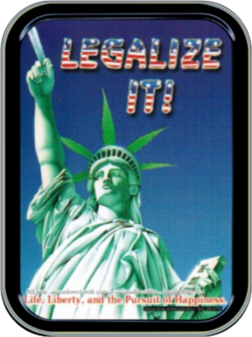 Legalize It - Statue of Liberty Stash Tin Storage Container Image