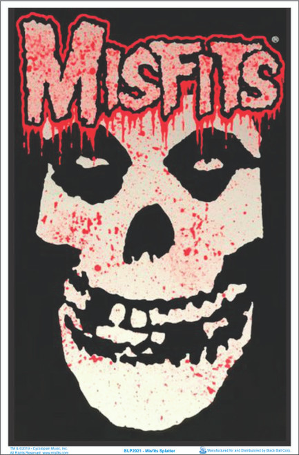 Misfits Splatter Blacklight Poster - Flocked Image