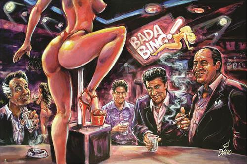 Bada Bing by: Art by Dano Poster 36x24 inches