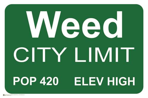 Weed City Limits Poster 36x24 inches